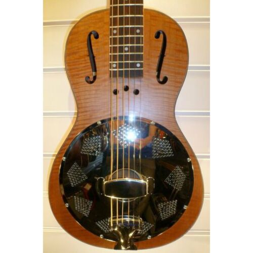 ResoVille Edgewood WS12R Single Cone Wooden Parlor Resonator In Maple