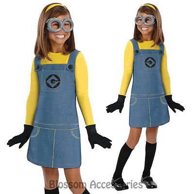 CK260 Girls Female Minion Despicable Me 2 Child Fancy Dress Up Costume - Minion Dressing Up Outfit