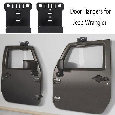2x Door Hanger Wall Mount for Jeep Wrangler CJ YJ TJ LJ JK JKU JL 4 Door 1990 Jeep Wrangler Door