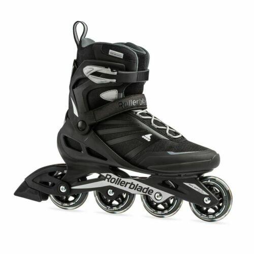 Rollerblade Zetrablade Fitness Inline Skates Mens Size 8 Black Silver