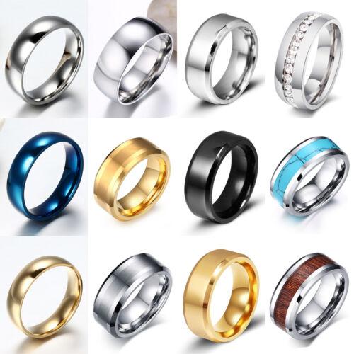 Tungsten Carbide Ring Comfort Fit Wedding Band Men Silver Gold Black Camo Celtic