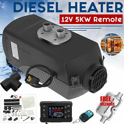 UK 5KW diesel Air Heater Planar 5000W 12V For Motorhome Trucks Boats Silencer