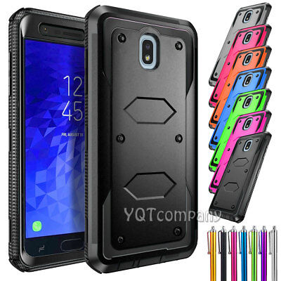 For Samsung Galaxy J3 2018 Aura Shockproof Phone Case Hybrid Rugged Armor Cover