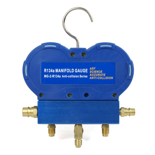 5PC R134a R410a R22 AC A/C Manifold Gauge Set 4FT Colored Hose Air Conditioner Business & Industrial