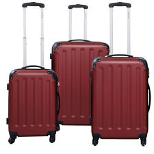 GLOBALWAY 3 Pcs Luggage Travel Set Bag ABS+PC Trolley Suitcase New