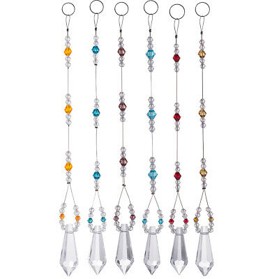 Suncatcher Set (US Set 6 Suncatcher Crystal Pendants Prisms Crystal Chandelier Hanging Ornaments )