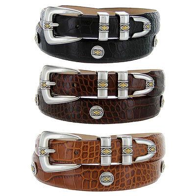 Golden Italian Dressing - Golden Diamond - Italian Calfskin Genuine Leather Designer Dress Belt, 1-1/8