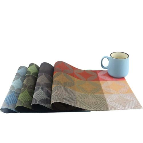 Set of 4/6,Dining Room Placemats for Table Heat Insulation P