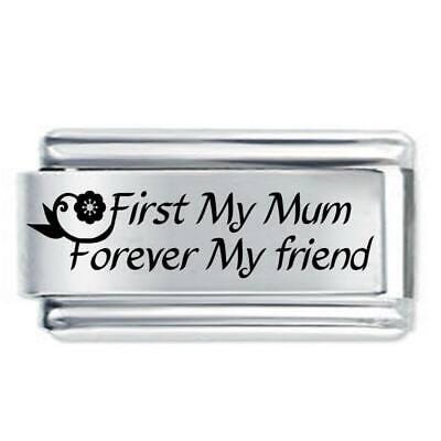 18mm 1st My Mum - Family * Daisy Charm Fits Nomination Classic Italian Charms