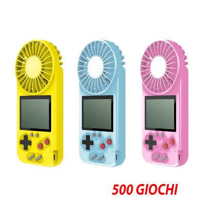 Consola Portátil Videojuego 500 Juegos Pantalla Colores Retro ' Juego Ventilador