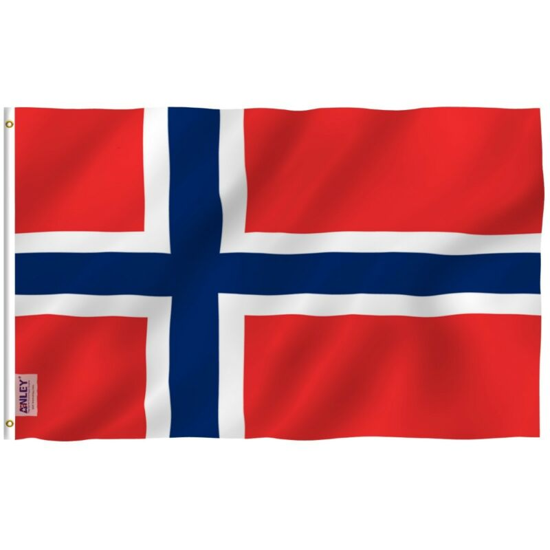 Anley Fly Breeze 3x5 Foot Norway Flag - Norwegian Nordmann National Flags
