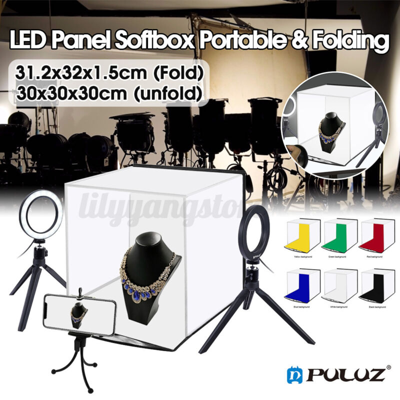 PULUZ Portable Photo Studio Photography Box Lightbox LED Light Room Kit