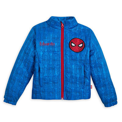DISNEY Store Boy Jacket Spiderman Quilted Lightweight Avengers no name New