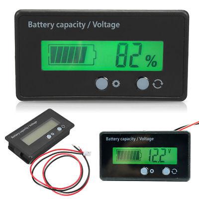 Lcd 12v24v36v48v Lead-acid Battery Status Voltage Voltmeter Monitor Meter Car