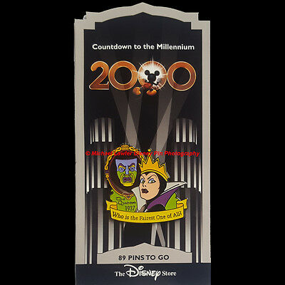 DISNEY STORE COUNTDOWN TO THE MILLENNIUM PIN #90 EVIL QUEEN 1937 MAGIC MIRROR