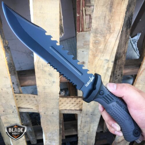 """13"""" TACTICAL SURVIVAL Rambo Army Bowie FIXED BLADE KNIFE Hunting w/ SHEATH NEW"""