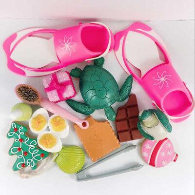 "5pcs Random 18"" American Girl Doll Turtle Brush Shoe Food Box Aesssories Toys"