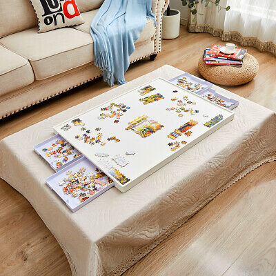 1500Pcs Jigsaw Puzzles Board Storage Table Tray with Foldable Legs Standard Size