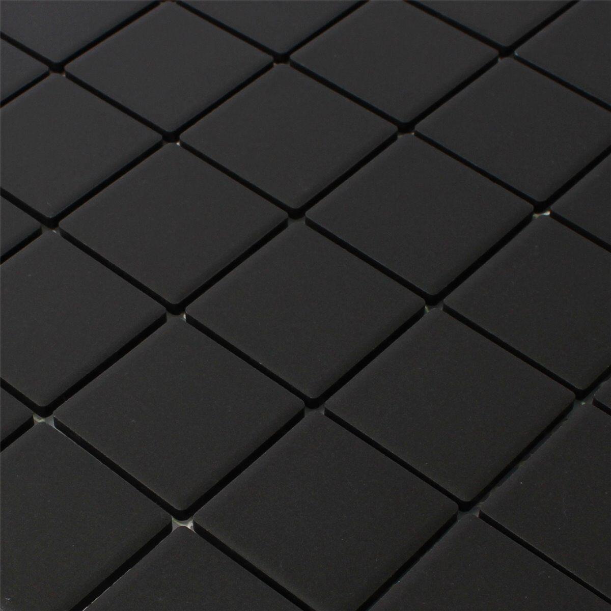 keramik mosaik fliesen schwarz uni rutschhemmend. Black Bedroom Furniture Sets. Home Design Ideas