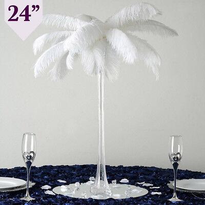 12 CLEAR Wedding Eiffel Tower Vases 24