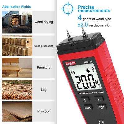 Lcd Display Digital Wood Moisture Meter Humidity Tester Detector 2 Pin Probes Us