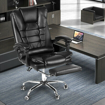 Executive Office Chairs Recliner Swivel 135 Gaming Computer Desks Seat Leather