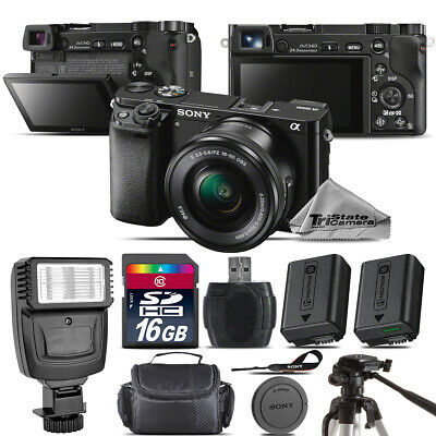 Sony Alpha a6000 Mirrorless Digital (Black) Camera with 16-50mm Lens - Kit A7