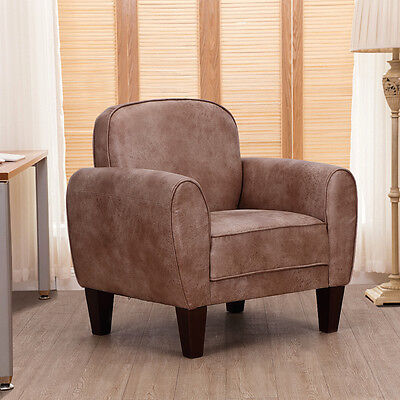 Single Sofa Leisure Arm Chair Accent Upholstered Living Room Office Furniture