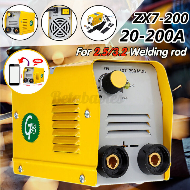 US 110V 200A Mini Electric Welding Machine IGBT DC Inverter ARC MMA Stick Welder