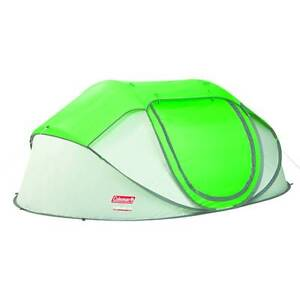 COLEMAN POP UP TENT 4 PERSON GREEN * USED FOR 5 NIGHTS ONLY* Goulburn Goulburn City Preview