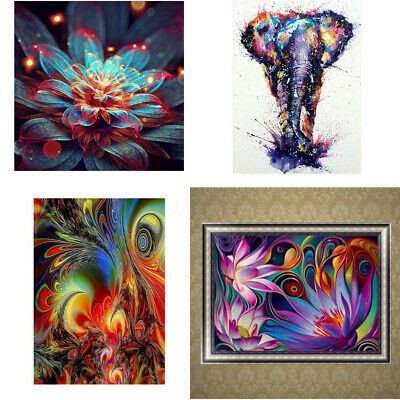 Diy Abstract Painting (Floral DIY 5D Abstract Diamond Painting Embroidery Cross Stitch Wall Home)