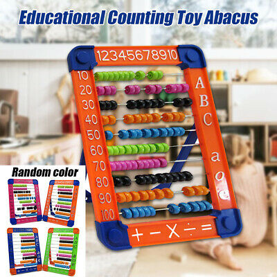 100 Beads Abacus Counting Number Preschool Kid Math Learning Teaching