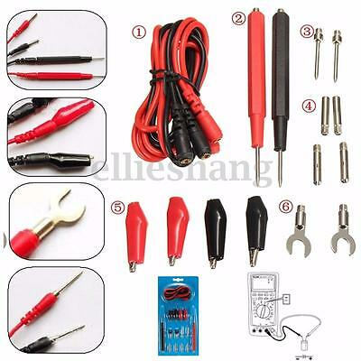 16pcs Kit Universal Multifunction Digital Test Lead Multimeter Probe Cable 1set