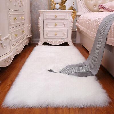 60 x 120cm Shaggy Fluffy Area Rug Carpet Floor Long Pile Mat Living Room Bedroom](Long Carpet)