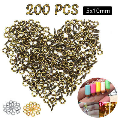 200Pcs Resin Casting Molds Screw Eye Pins Peg Jewelry DIY Cr