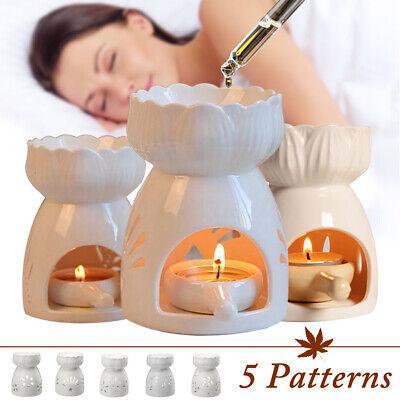 Ceramic Oil Burner Candle Spa Essential Wax Melt Home Fragrance Light Gift Tea