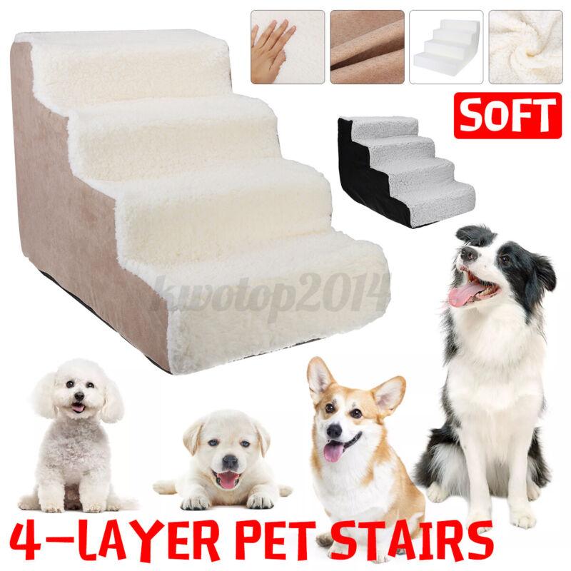 4-Layer Soft Pet Stairs Cat Dog Steps Waterproof Climbing Ladder High Rebound