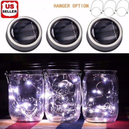 3 Pack Solar Mason Jar Lid Insert LED Mason Jar Solar Light for Glass Mason US Home & Garden