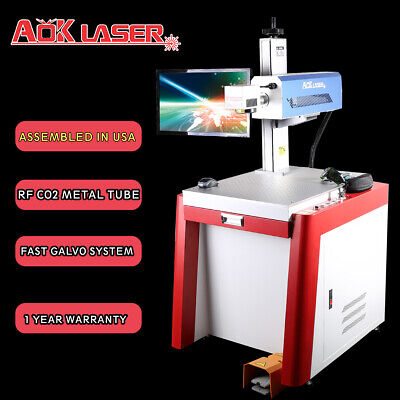 Aok Laser 30w Rf Co2 Galvo Laser Marking Engraving Machine With Coherent Laser