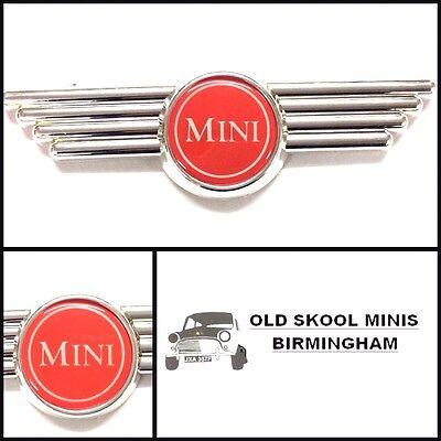 CLASSIC MINI RED BONNET/BOOT WING BADGE AUSTIN MORRIS COOPER ROVER 3P3