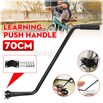"""28"""" Kids Bike Learning Push Grab Handle Learn Bicycle Safety Control Pole Bar US"""