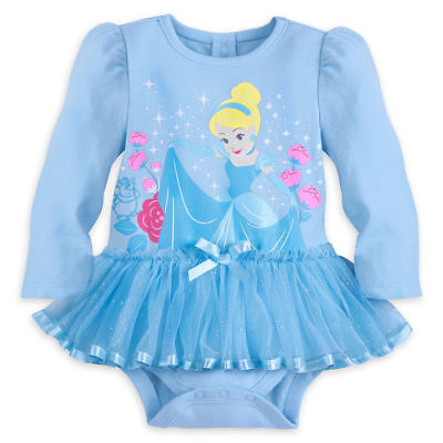 Disney Store Princess Cinderella Baby Girl Costume Bodysuit Size 18/24 Months (Infant Princess Costumes)