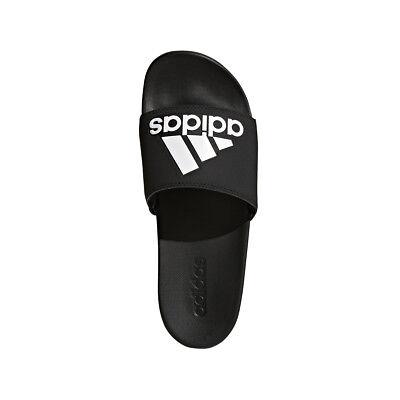 outlet store ccdc2 ad6c8 Adidas Mens Adilette Cloudfoam Plus Logo Comfort Slides Sandals Flip Flops