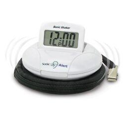 Sonic Alert SA-SBP100 Travel Alarm Clock Bed Shaker, extra loud  90 db alarm