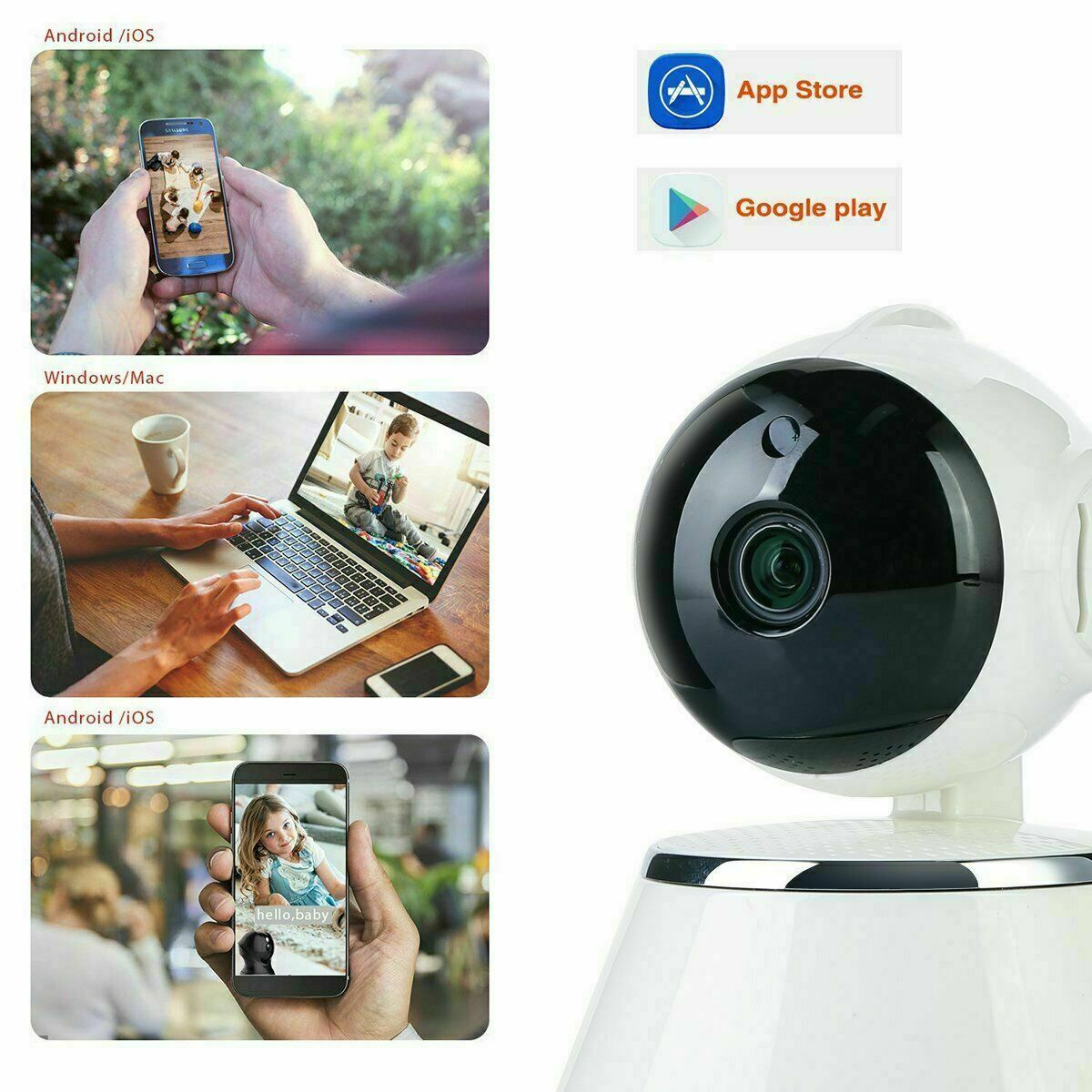 1080P HD Wireless IP Camera Home Security Smart Wi