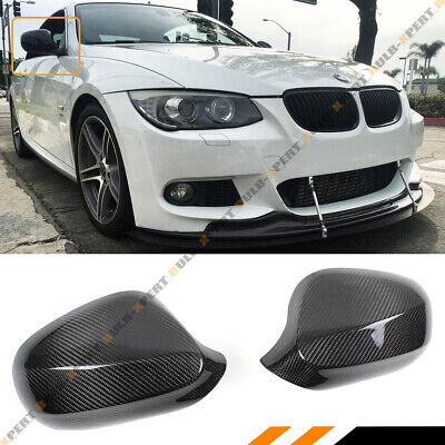 FOR 2010-2013 BMW E92 E93 LCI 2DR 325i 328i 335i CARBON FIBER MIRROR COVER CAP