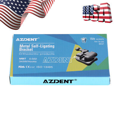 Azdent Dental Orthodontic Passive Self Ligating Brackets Mini Mbt.022 Hooks 345