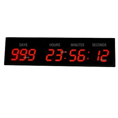 3'' 9Digits LED Countdown Day Clock Countdown/Up For Special Events