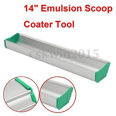 14 Emulsion Scoop Coater Silk Screen Printing Press Aluminum Coating Tool Diy