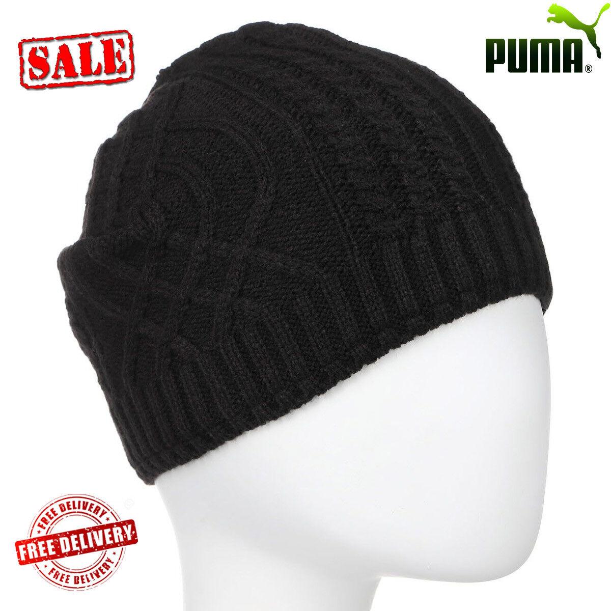3b1b9e141b5 Puma Mele Cable Knit Casual Urban Winter Fashion Warm Beanie Hats Caps  Unisex UK